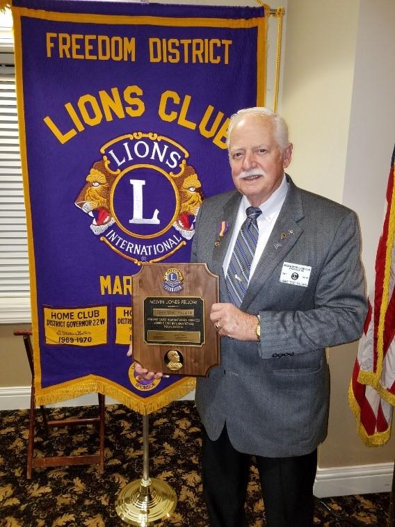 Doc Palmer Recognized as Melvin Jones Fellow